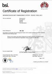 data center certification of the ISO 2701 norm