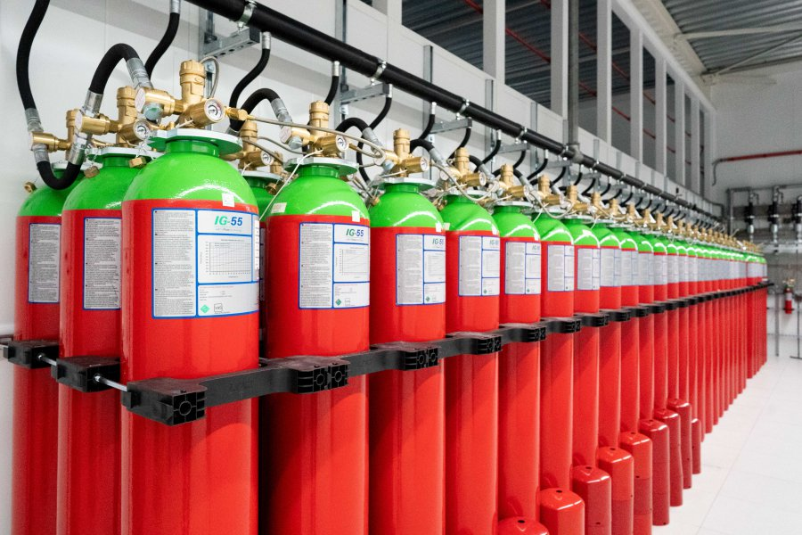 datacenter fire extinguishing gas Serverius