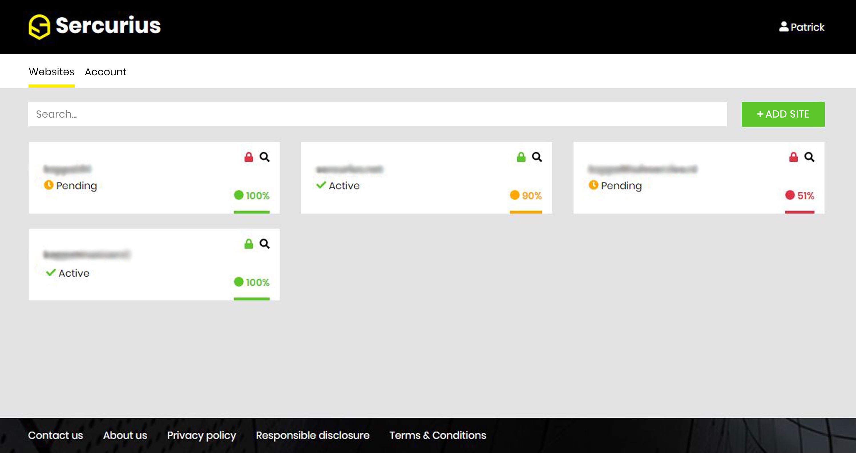 sercurius dashboard free web application firewall