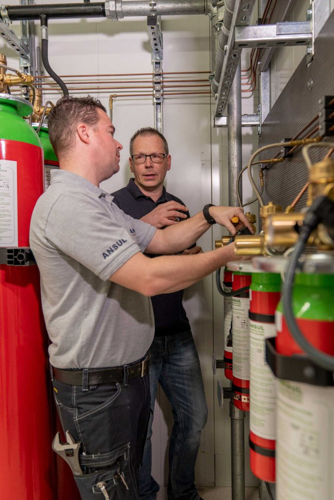 Serverius and Ansul are working together on their new fire suppression installation