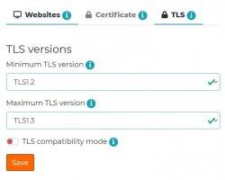 TLS version control