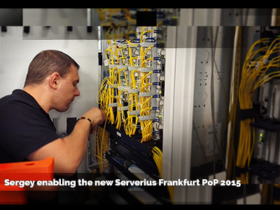 PoP at the datacenter InterXion Frankfurt Germany